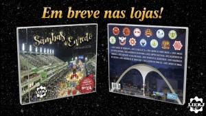 Capa e contra-capa do CD dos sambas-enredo das escolas da Série A do carnaval 2018