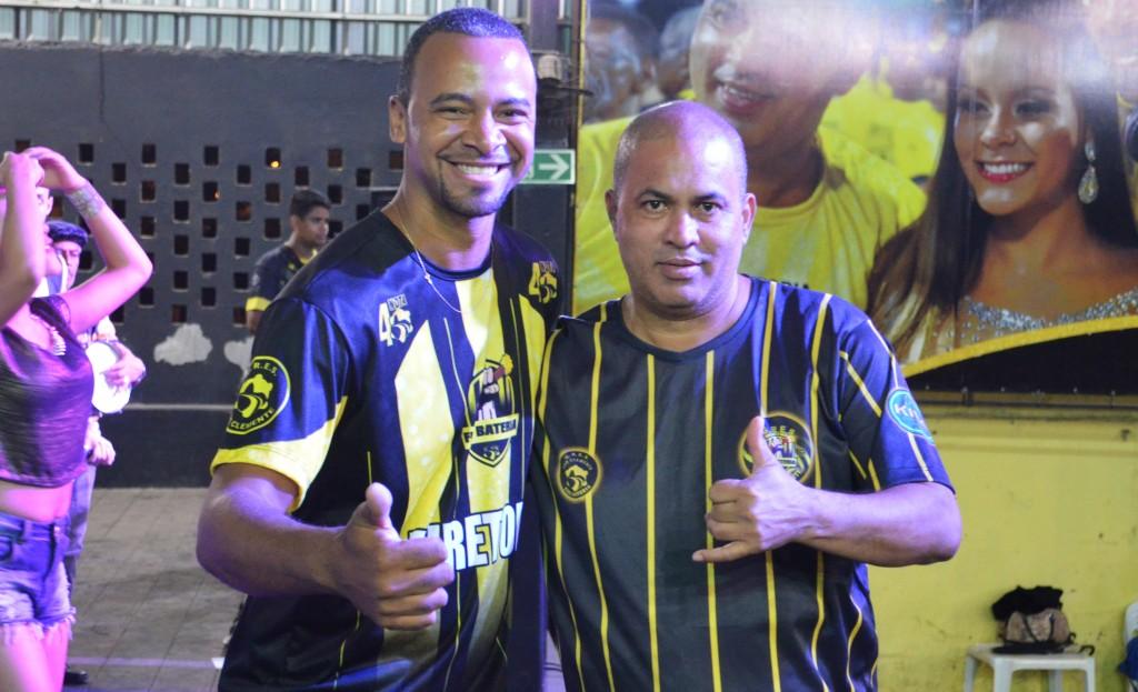 Caliquinho e Gil, mestres de bateria da São Clemente (Foto: Rafael Arantes)