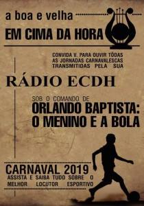 Em Cima da Hora - Logo do Enredo - Carnaval 2019