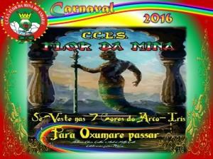Flor da Mina do Andaraí - Logo do Enredo - Carnaval 2016
