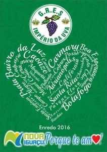 Império da Uva - Logo do Enredo - Carnaval 2016