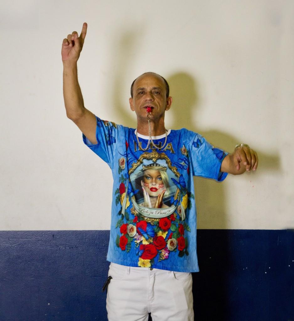 Ciça, mestre de bateria da União da Ilha (Foto: Bia Guedes / Agência O Globo)
