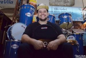 Macaco Branco, novo mestre de bateria da Vila Isabel para o carnaval de 2019 (Foto: Rafael Arantes)